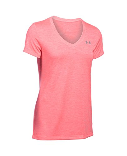Under Armour Women's Tech Twist V-Neck, Brilliance/Metallic Silver, X-Small by Under Armour (Image #3)