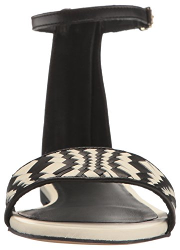 Cole Haan Femmes Genevieve Weave Robe Sandale Noir / Blanc