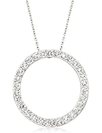 2.25 ct. t.w. CZ Open Circle Of Eternity Pendant Necklace in Sterling Silver