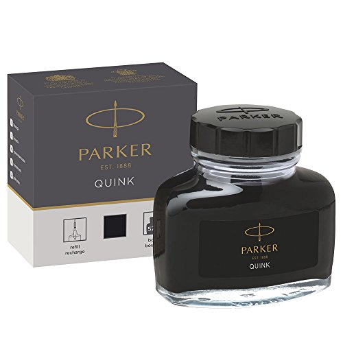 Parker 1950375 Quink Ink Bottle, Black, 57 ml (Black Ink Bottle)