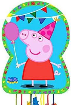 CAPRILO Set de 2 Piñatas Peppa Pig para Cumpleaños ...