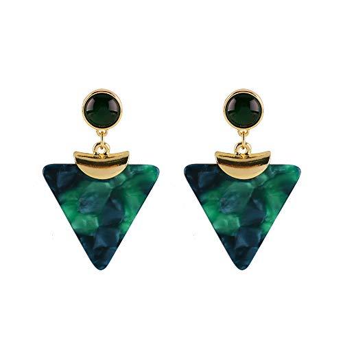 Earrings Date Green - VDX Drop Green Acrylic Stud Earrings for Women and Dangle Resin Earrings for Girls