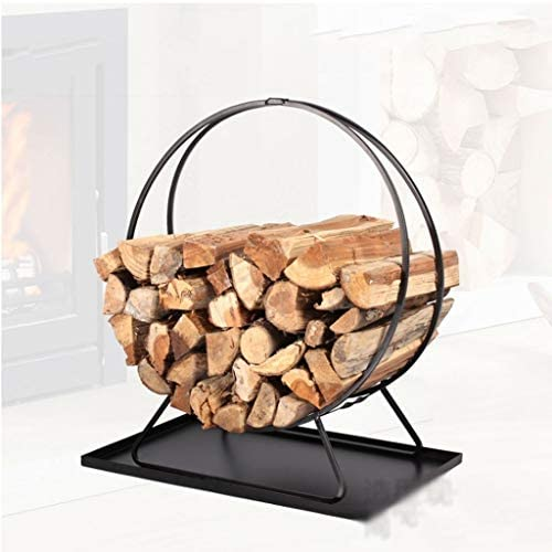 ホーム、暖炉のある木製フレーム暖炉アクセサリ積み上げウッドフレーム屋内屋外の薪フレームブラックアイアンに適した薪フレーム