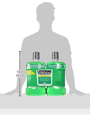 Listerine Antiseptic Mouthwash, Fresh Burst 1.5 Liter (Pack of 2)
