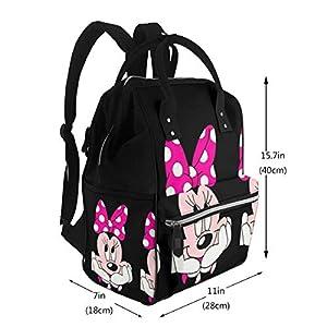NHJYU Diaper Bag Backpack – Lovely Mi-n-n-ie Multifunction Waterproof Travel Backpack Maternity Baby Nappy Changing Bags
