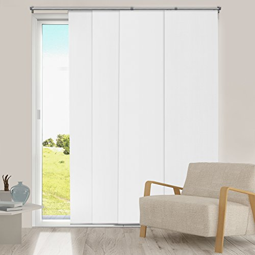 chicology adjustable sliding panels cut to length vertical blinds mountain snow thermal up to 80 w x 96 h - Blinds For Sliding Glass Door