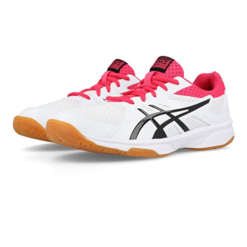 Asics WoMen Upcourt 3 Squash Shoes White (White/Pixel Pink 101)