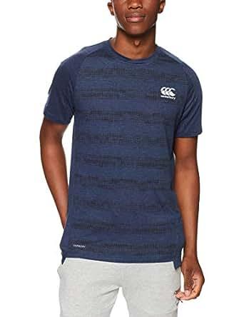 Canterbury Men's Vapodri Peformance Cotton T-Shirt, Navy Marl, M