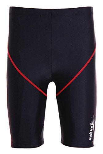 WUAMBO Swimwear Men's Swim Jammer Shorts Black US Small Waist 29