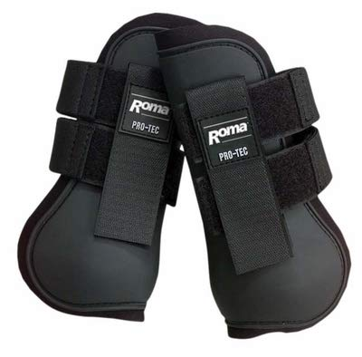 Roma Open Front Boots Black -
