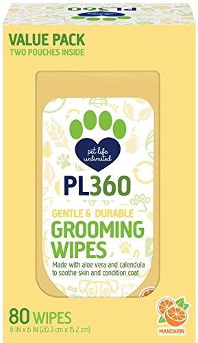 Mandarin Foam (PL360 Grooming Wipes, Mandarin, 80ct Value Pack)