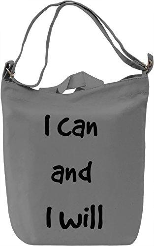 I can do it Borsa Giornaliera Canvas Canvas Day Bag| 100% Premium Cotton Canvas| DTG Printing|