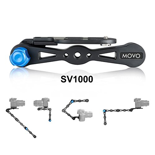 Combination Stick (Movo Photo SV1000 Aluminum Combination Shoulder Rig/Selfie Stick/Handheld Stabilizer/Video Grip - For all Cameras up to 9 lbs/4kg)