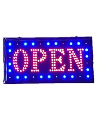 Neon LED Cartel Abierto clientes anziehende - Rótulo Sign ...