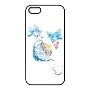 Chinese Elements Watercolor Brand New Cover Case with Hard Shell Protection for Iphone 5,5S Case lxa#858851
