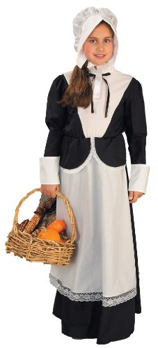 Forum Novelties Pilgrim Girl Costume, Child's Large -