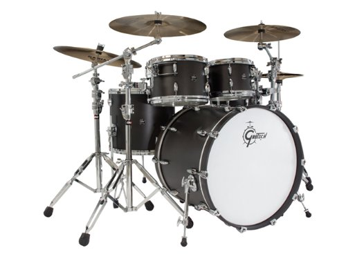Gretsch New Renown Maple 4-Piece Euro Drum Set Shell Pack – Satin Black