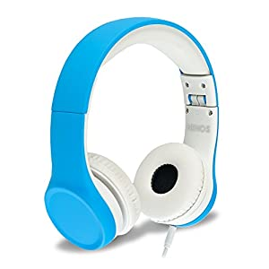 Nenos Kids Headphones Children Headphones Kids Headset Children's Headphones Over Ear Headphones Kids Headphones Computer Volume Limited Headphones Connection Foldable (Blue)