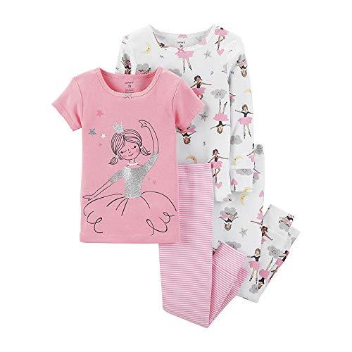 Carter's 4-pc. Pajama Set, Baby Girls, 18 Months, Pink Ballerina