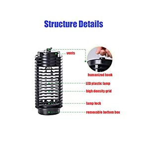 2017 New Portable Electronic Insect Killer Mosquito Trap for Indoor Use Standing or Hanging LED Machine-Best Stinger for Bug Moths Flies