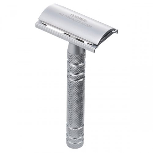 (Feather All Stainless Steel Double-Edge Razor, Model AS-D2)