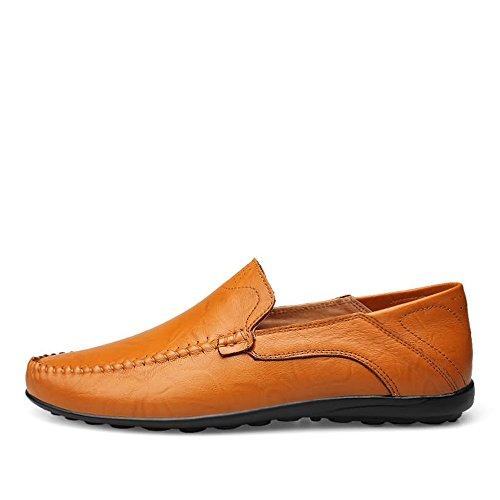 Zapatos liviano se Deslizan tamaño Color Yellow Mocasines Estilo Brown Meimei los de shoes de liviano Antideslizantes los cómodos Los Sobre y Mocasines EU 44 Los Hombres FxqTOYAw