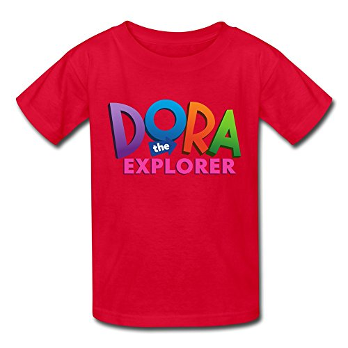 [Seico Dora The Explorer Logo T-shirt For Unisex Kids XL Red] (Swiper Costumes For Adults)