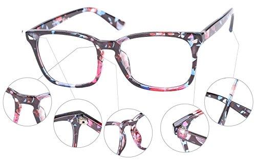79e0945fb0d Agstum Wayfarer Plain Glasses Frame Eyeglasses Clear Lens - Import ...
