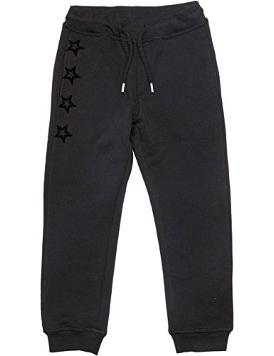 Replay Boys Black Trackpants With Print in Size 10 Years Black by Replay