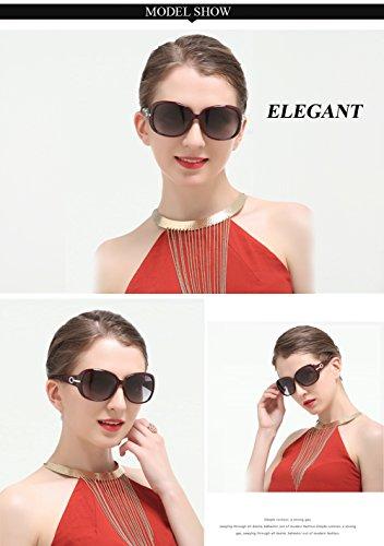 6214 gafas sol Classic gran ' de protección polarizado UV Duco 100 Women de Shades tamaño s z1wWAqZ