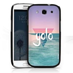 Carcasa Design Funda para Samsung Galaxy S3 i9300 / LTE i9305 HardCase black - YOLO