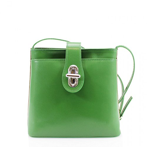 Italian Bag Green Shoulder Vera UK Body Ladies Handbag Small Pelle Satchel Cross Leather New BERw16q
