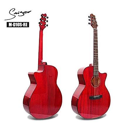 SUNXK La Nueva luz de Chapa de Caoba de la Vendimia de la Guitarra ...