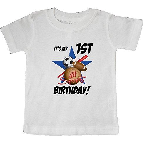 inktastic 1st Birthday All Stars Baby T-Shirt 18 Months White