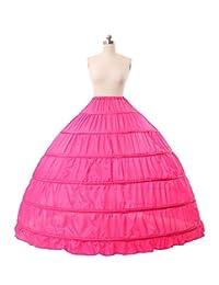 Slip Petticoat Bridal Dress Gown Full A-line 6 Hoop Floor-length Bridal Dress Gown