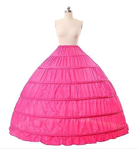 MISSYDRESS Full A-line 6 Hoops Floor-length Bridal Dress Gown Slip Petticoat Rose