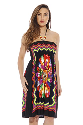 8868-Black-S Just Love Summer Dresses for Women,Black With Necklace,Small