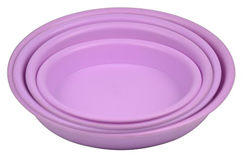 10.6'' Round Plant Saucer Planter Tray Pat Pallet for Flowerpot,Purple,660 Count by Zhanwang