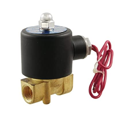 """3/8"""" Two Way 2 Position Pneumatic Solenoid Valve AC 220V 2W-040-10 from Amico"""