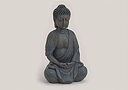 Introducción Precio * * * Buda sentado marrón 38 cm, grande estatua, Buda figuras decorativa, figuras