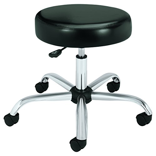 - HON Medical Stool - Vinyl Backless Exam Stool, Black (HMTS01)