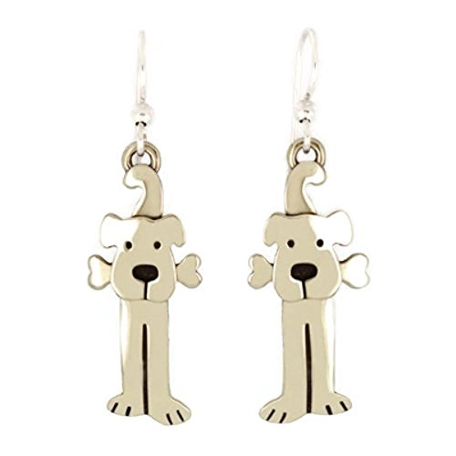 Dog with Bone Earrings (Earrings Dangle Dog)