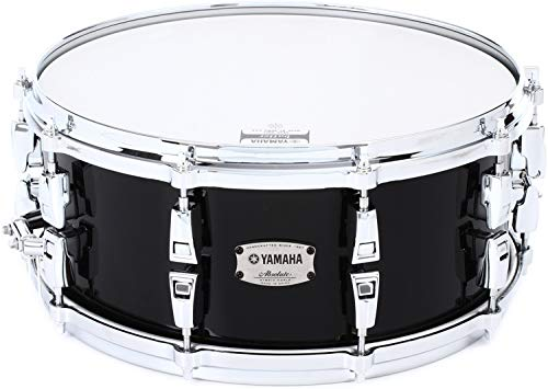 Yamaha Absolute AMS1460 Hybrid Maple Snare - Solid Black (Snare Hybrid)
