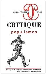 Critique, N° 776-777, Janvier- : Populismes