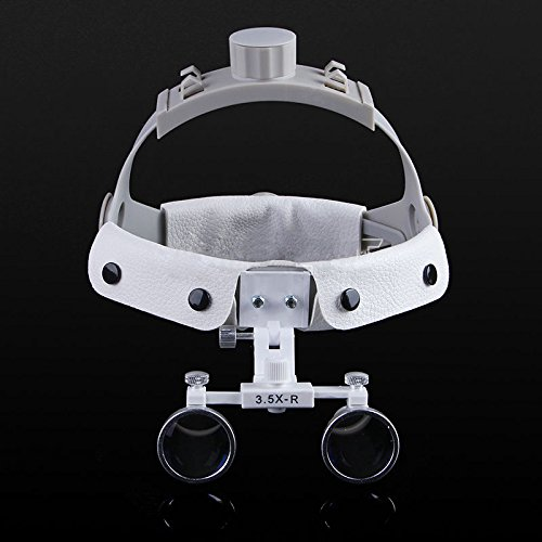 Zgood Dental White LED Head Light + Dental Surgical Glasses Binocular Loupes DY-108 3.5X-R by Zgood (Image #8)