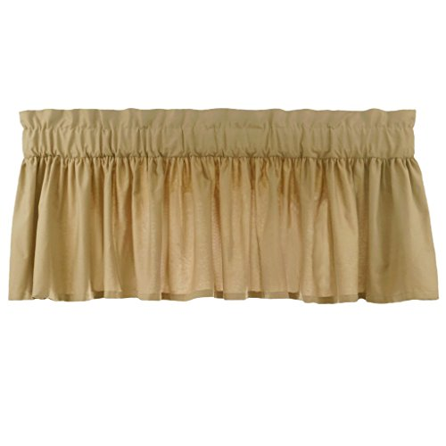 Latte Window Valance - Gathered Valance in Latte - with 3 inch rod pocket