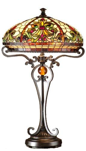 Dale Tiffany TT101114 Boehme Table Lamp, Antique Golden Sand