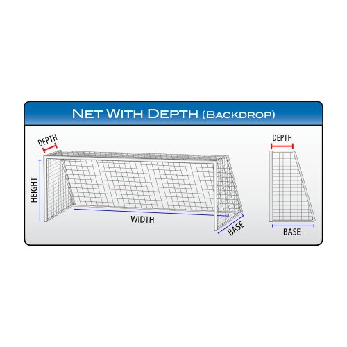 "Agora 3mm Nets for 6'6""x18' Soccer Goals With Depth (Each)"