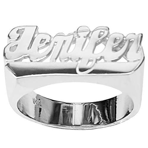 Sterling Silver Script Name Ring - 5