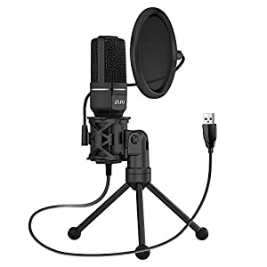 Uhuru UM-SF777 USB Condenser Gaming Microphone, Computer Mic Kit for Recording Podcasting with Tripod Stand and Pop…